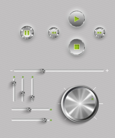 Web user interface design elements    Vector