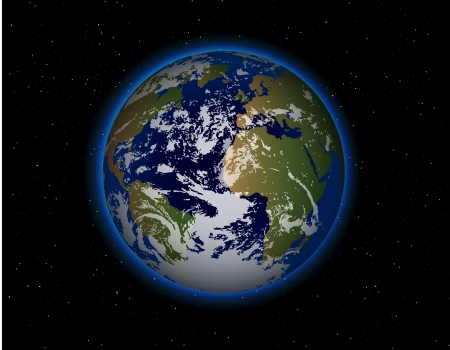 earth space: beautiful Planet Earth