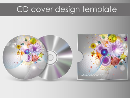 cd cover presentation design Vector
