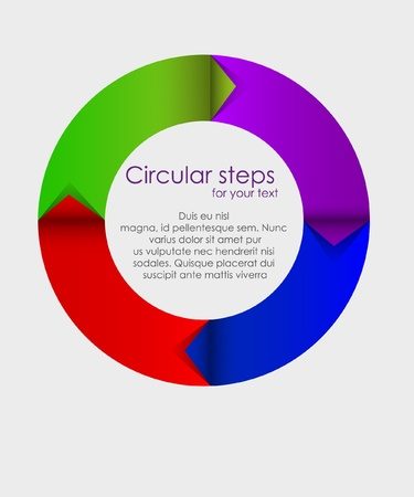 colorful arrows circle Stock Vector - 14292028