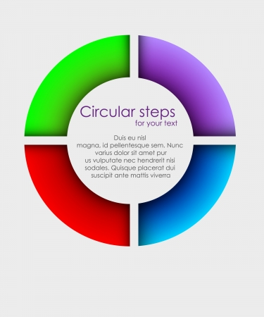colorful arrows circle Vector