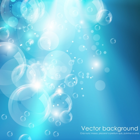 waterdrop: Blue water background  illustration