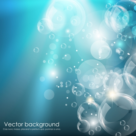 Blue water background  illustration Stock Vector - 14292088