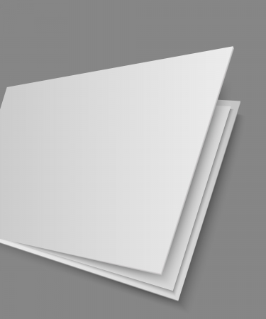 Open book s page on gray background Vector