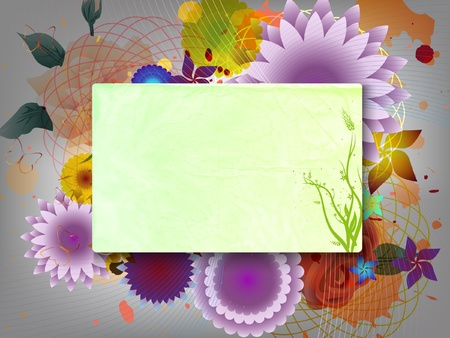 template on the background of summer flowers Vector
