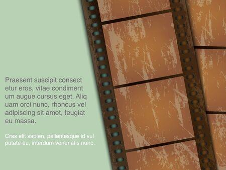 old technology: lo sfondo concettuale della pellicola vecchia tecnologia con una foto3