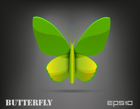 Vector Shiny Butterfly Vector