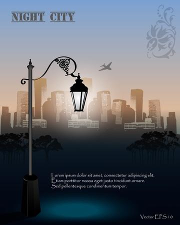 streetlight: Vector Streetlight at Night