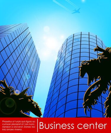 tall buildings: Business center  Vector illustration  Illustration