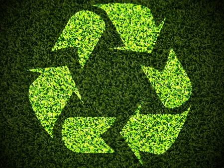 Green Recycle grass Vector