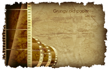 grungy old paper with foil and place for your text Illustration