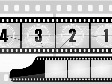 old movie countdown, film Vector