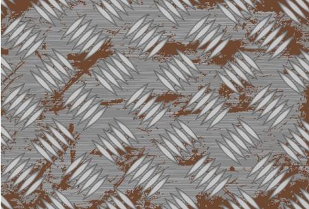 diamond in the rough: Seamless steel diamond plate vector Illustration