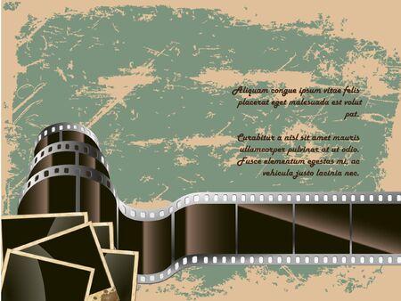 old technology: lo sfondo concettuale della pellicola vecchia tecnologia con una foto