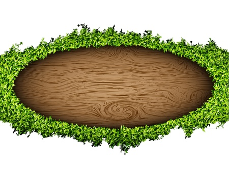 environmental background of the banner of grass and tree Vector