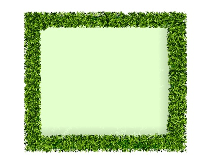 frame made of green grass Vector