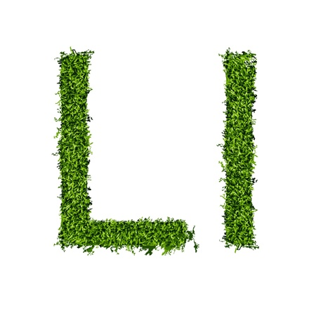 Isolated grass alphabet on white background  vector illustration Illustration