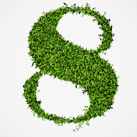 Number eight grass texture  Vector illustration Stock Vector - 14810059