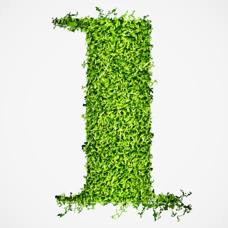 Number one grass texture  Vector illustration
