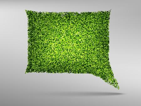 Summer Bubble for speech, the green grass  Vector illustration Stock Vector - 14810054