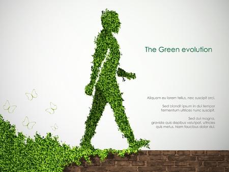 le concept de jardinage dans l'usine de la société Man For Peace Vecteurs
