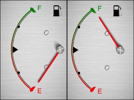 coolant temperature: Vector Car Fuel Icon