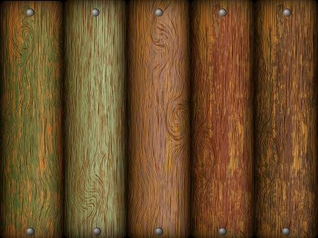 bronze background: wooden texture  board with screws