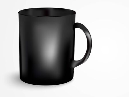 cofe: Black mug with handle