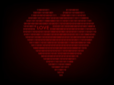 null: Digital love background Illustration