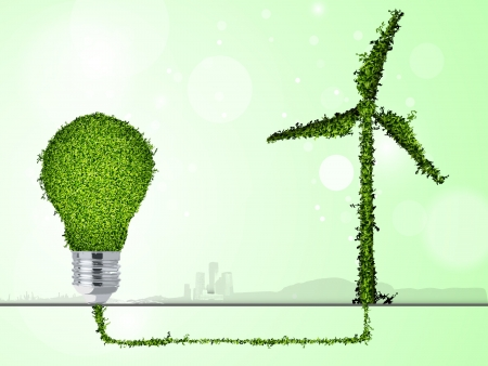 save the environment: contsept for green energy