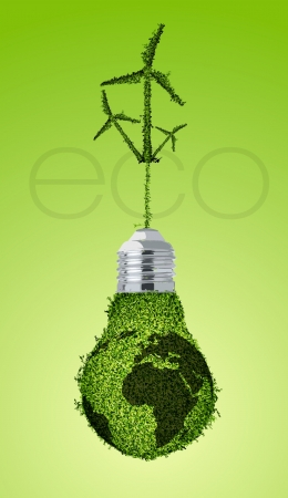concept of clean, green energy Illustration