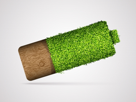 green energy: concept of clean, green energy Illustration