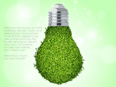 concept of clean, green energy Vector