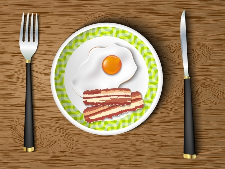 bacon art: morning breakfast  bacon and eggs