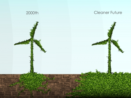 flower power: the concept of clean, green energy Illustration