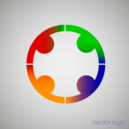 logo people holding hands Vector