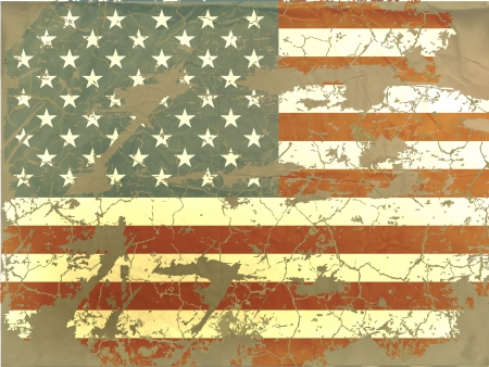 old American flag Illustration