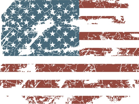 distressed: old American flag Illustration
