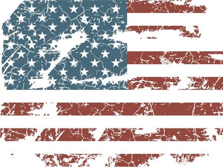 vieux drapeau américain Vecteurs