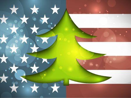 Christmas Tree on the American flag Stock Vector - 15779864