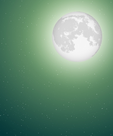 night sky background with moon Stock Vector - 15779834