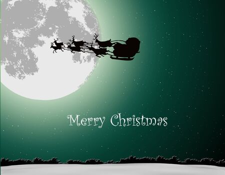 Santa Into the Winter Christmas Night Stock Vector - 15779833