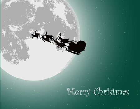 Santa Into the Winter Christmas Night Stock Vector - 15779819