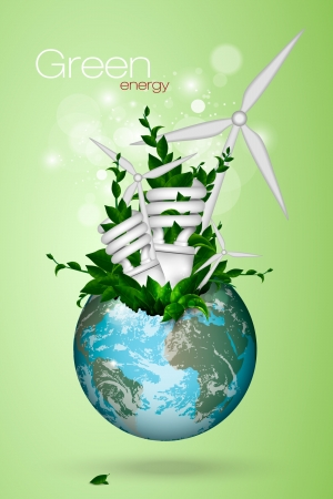 clean energy: the concept of clean energy on the planet