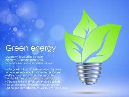 the concept of clean, green energy Illustration