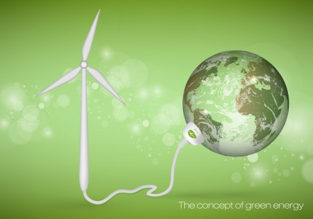 The concept of green energy Vector
