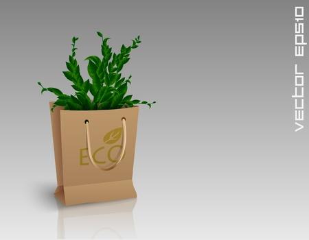 reusable: Shopping Bag Illustration
