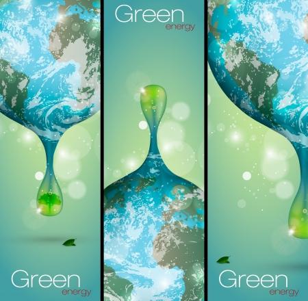 regenerative energie: das Konzept der sauberen Energie auf dem Planeten Illustration