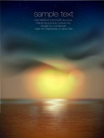 horizont: vector sunset at sea Illustration
