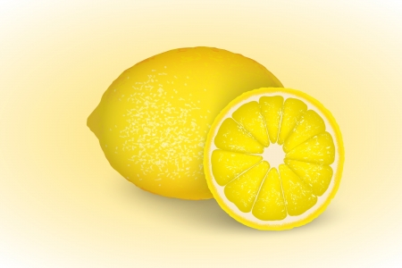 whole lemon and half Stock Vector - 16111325